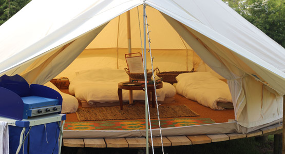 Meadow View Bell Tents - inside