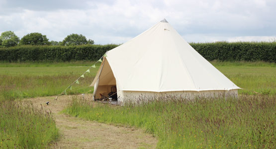 Meadow View Bell Tents - near Paultons and Peppa Pig World
