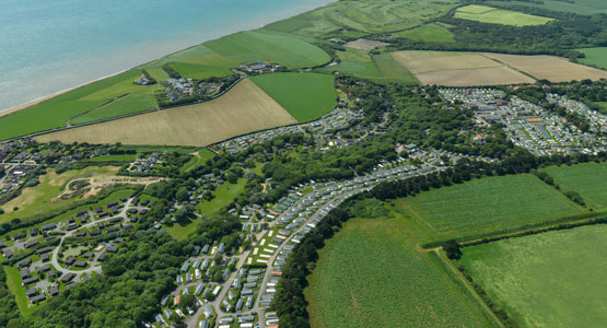 Shorefield Country Park - Aerial view